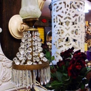 vintage freestanding chandeliers