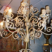 Hard to come by now...original old chandelier..sold as a canleholder now as non compliant