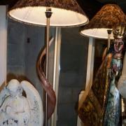 Large Kudu Horn lamp base